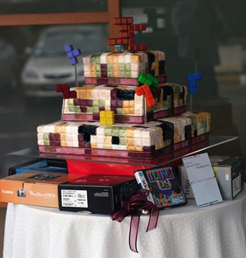 Tetris-Wedding-Cake